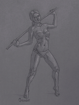 Figure Drawing #32 by AngelGanev