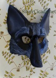 Silver Fox Leather Mask by SilverCicada