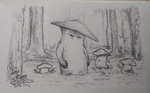 Dark Souls Mushroom Family Outing by Hewison