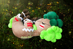 Sleepy Bushboosky plush I Crystal Monsters by PinkuArt