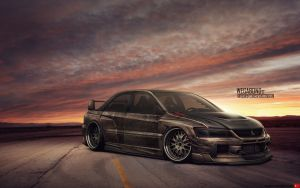 Mitsubishi Lancer Evolution VIII by wegabond