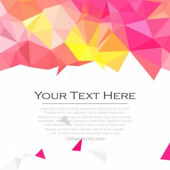Yellow Pink Geometric Polygon Background Free by 123freevectors