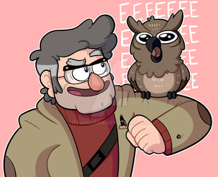 Two Owls Hangin' Out by itsaaudraw