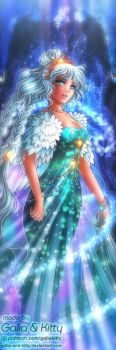 Bookmark Style Commission: Princess Sailor Polaris by galia-and-kitty