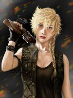 Prompto (Female version) from Final Fantasy XV by EmmaNettip