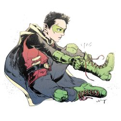 Damian Wayne by Haining-art