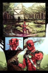 Conan vs Deadpool page 1 by Aracubus