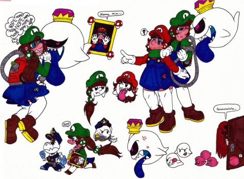 A lot of Mario related doodles by ShadowBunny89