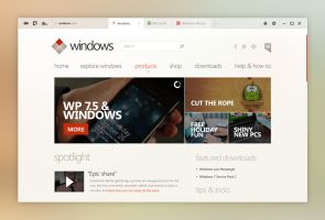 Windows UI Concept: Internet Explorer by kgbstyle