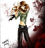 Eliana and the wall of blood by CorvenIcenail