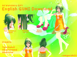 [MMD - 60 Watchers Gift] English GUMI Download by megpoid625