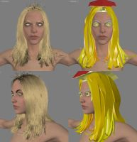 Base mesh hair test Hair Farm by screenlicker
