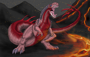 Art Trade - D-Rex by Scatha-the-Worm