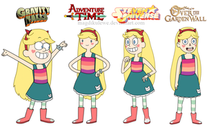 Star Butterfly Crossover by magdikulewe