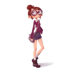 Girl with BIG glasses by Iraville