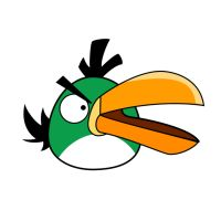Angry Bird - Green Bird by life-as-a-coder