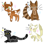 Adoptables - CLOSED by Minnow-to-the-moon