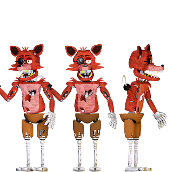 Foxy the Pirate v1 Full body by 666TheFoxGamer666