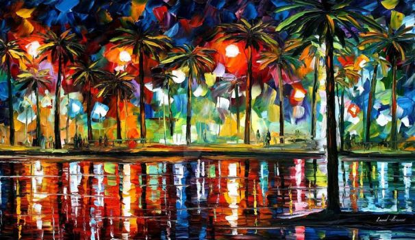 Tropical Fiesta by Leonid Afremov by Leonidafremov