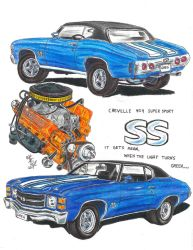 1971 Chevelle 454 SS by Deorse