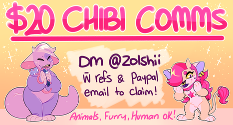 CHIBI COMMISSIONS by Zolshii