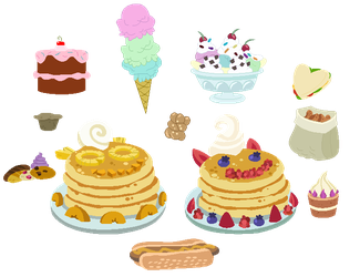 Sweets set (Part 1) Free to use by MelaRainbow-Bases