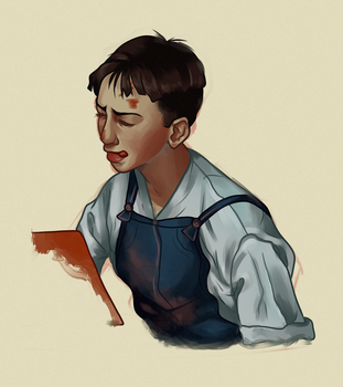 norman rockwell study by oxyelf