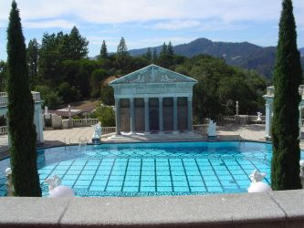 Hearst Castle Pool by StockWolfwood