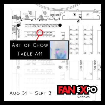 FanExpo 2017: Art of Chow on Table A11! by Alex-Chow
