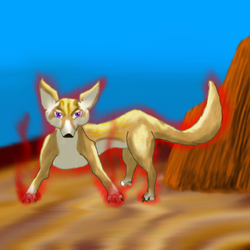 Angry Fennec Fox by Draconic-Lover