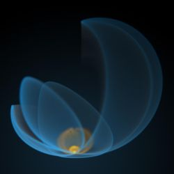 Flaming Blue Flower by Ph0Xy