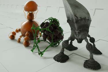 Mandelbulb Meshes in octane by matze2001