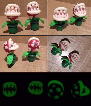 Piranha Plant Charms by HideTheDecay