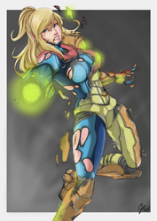 0.5 Suit Samus Aran by Caiman-Pool
