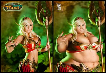 Jessica Nigri's Bigger Blood Elf Photomorph Back 3 by JayTee-FAArtist