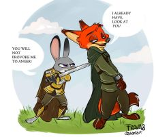 You're not allowed to talk, Kingslayer! by Frava8