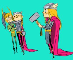Thor chibis by PollyGuo