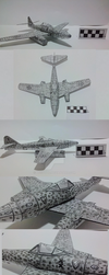 Me-262 Papercraft by atisuto17