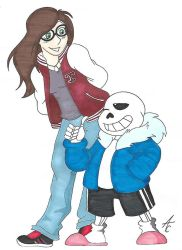 Me and Sans by AliceCherie