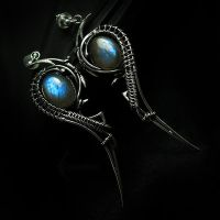 EXTEERLITH Silver and Labradorite by LUNARIEEN