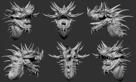 ZBrush Spiked Dinosaur by WretchedSpawn2012