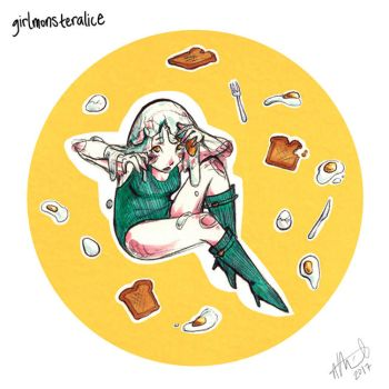eggs and toast by GirlMonsterAlice