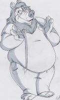 Commission Sketch - CB Bear by BlackBlueDawg