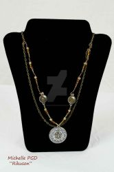 Gold and Silver Necklace by rikuson2102