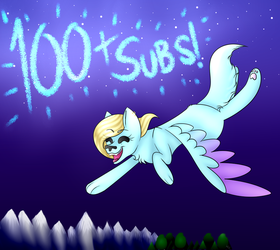 100+ Subs! by ladyCuteFace