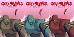 God Slayer Color Cover Versions by ebbewaxin