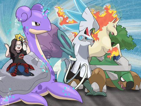 Commission - Viola's Pokemon Team by Tails19950