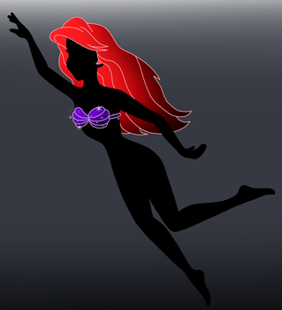 Disney silhouette: Ariel by Willemijn1991