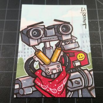 Johnny 5 Sketchcard  by juniorbethyname