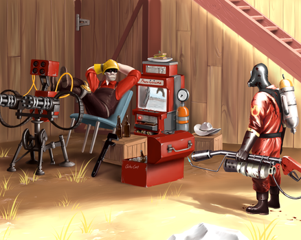 Team Fortress 2 - On Defense by OuterKast